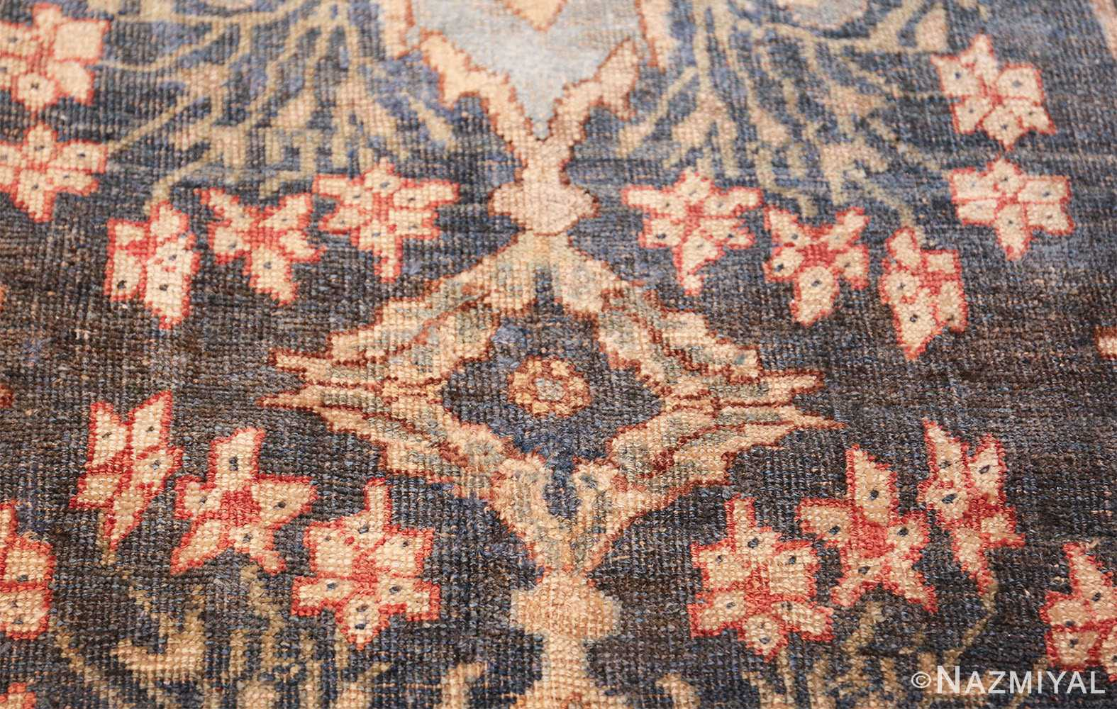 large blue background antique bidjar persian rug 50217 tiny Nazmiyal
