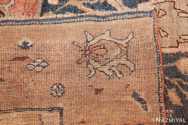 ge blue background antique bidjar persian rug 50217 weave Nazmiyal