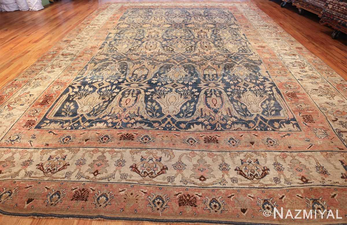 ge blue background antique bidjar persian rug 50217 whole Nazmiyal
