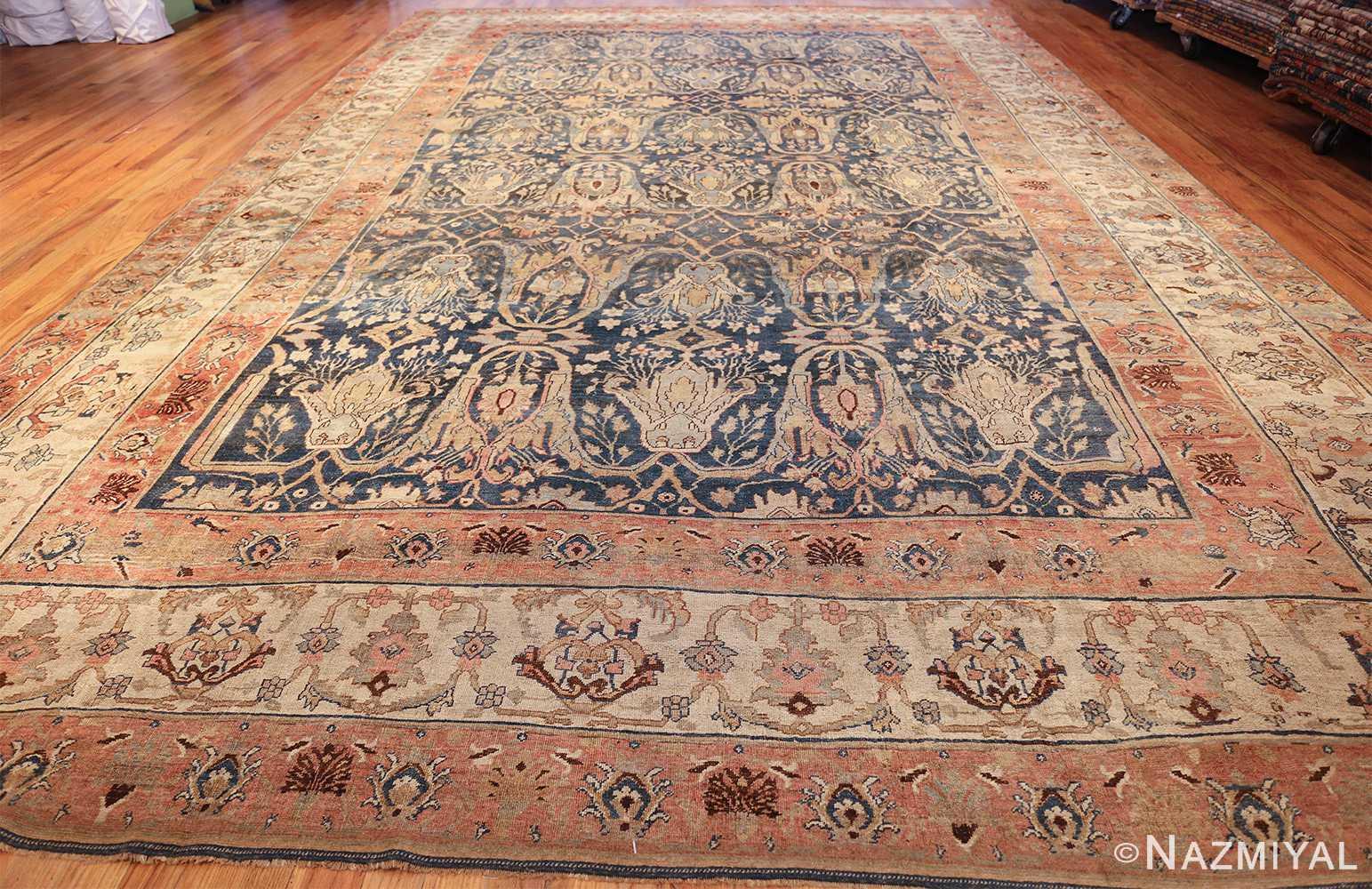 ge blue background antique bidjar persian rug 50217 whole Nazmiyal