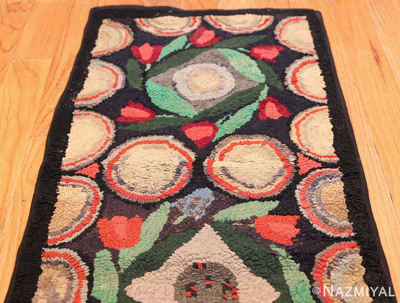 long antique art deco american hooked rug runner 49526 top Nazmiyal