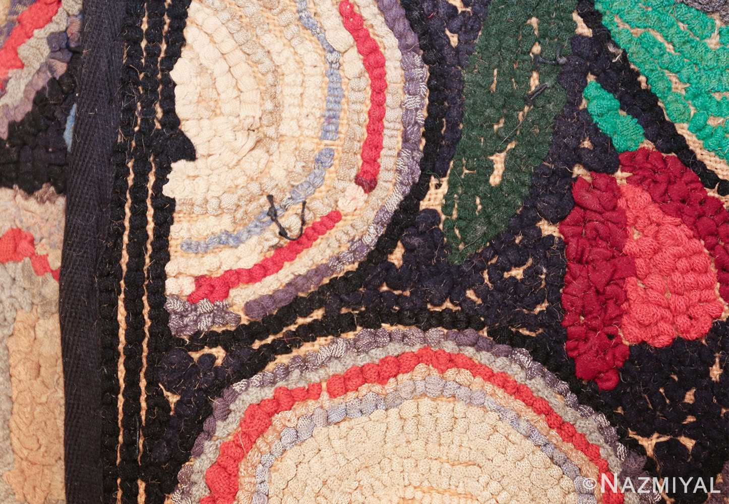long antique art deco american hooked rug runner 49526 weave Nazmiyal