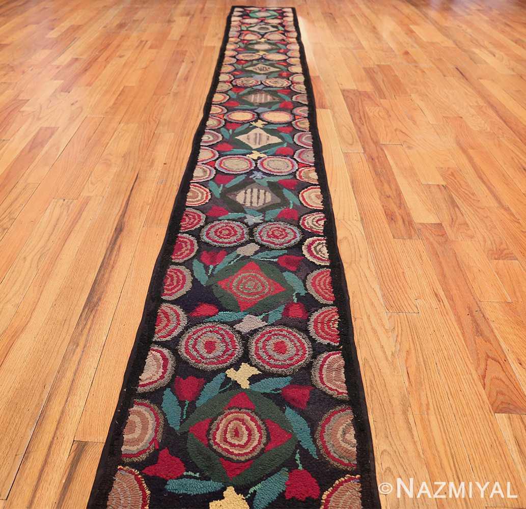 long antique art deco american hooked rug runner 49526 whole Nazmiyal