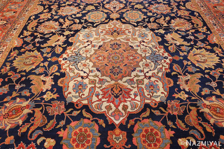 navy background large antique tabriz persian rug 49476 field Nazmiyal