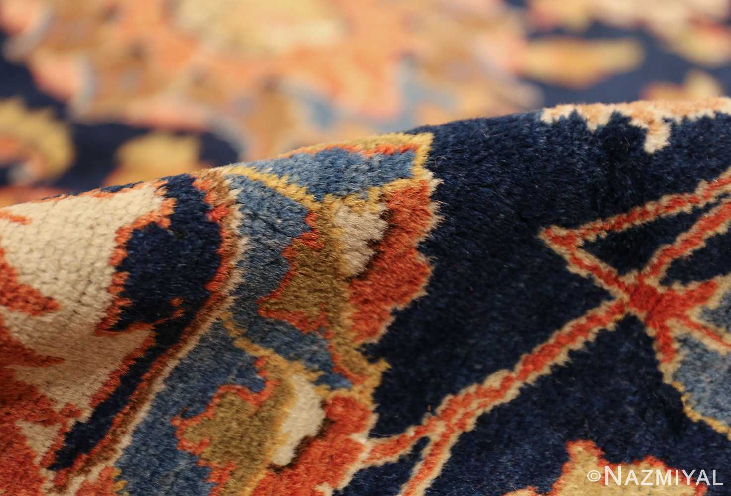 navy background large antique tabriz persian rug 49476 pile Nazmiyal
