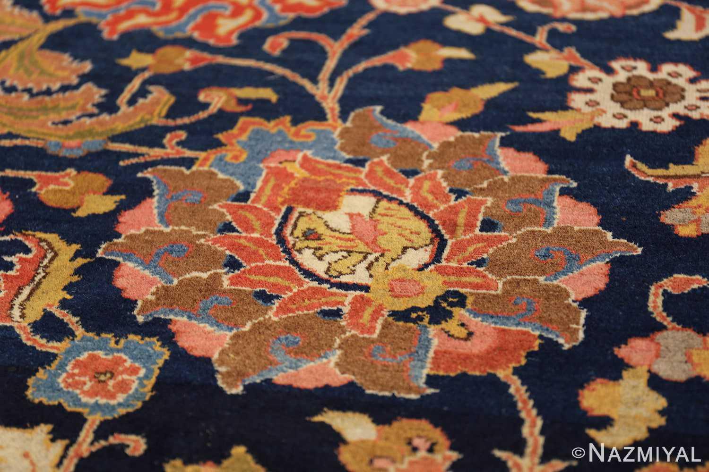 navy background large antique tabriz persian rug 49476 slanted Nazmiyal