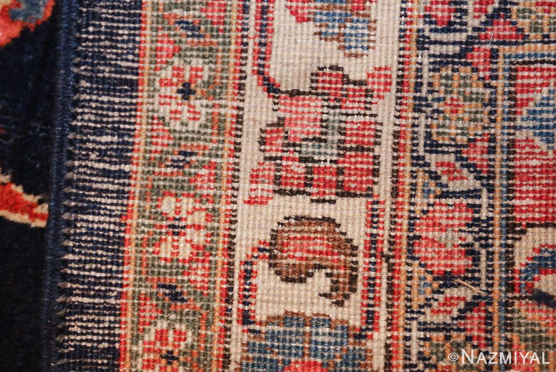 navy background large antique tabriz persian rug 49476 weave Nazmiyal