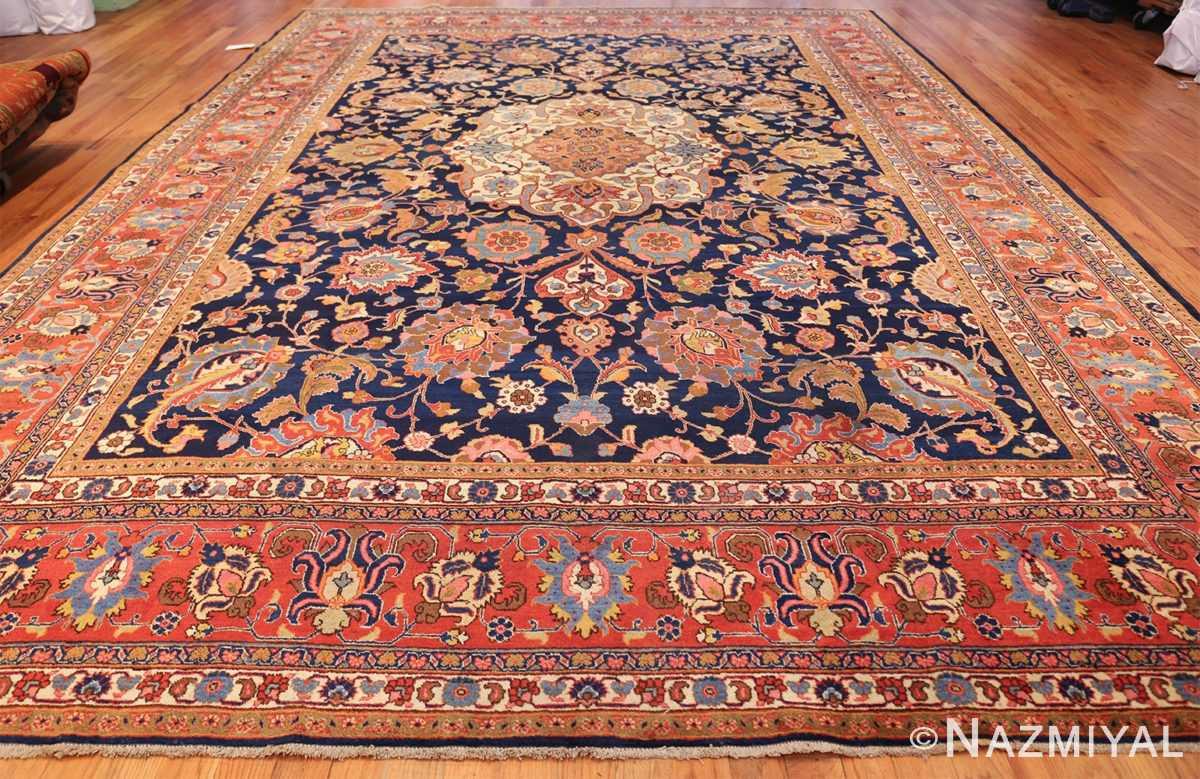 navy background large antique tabriz persian rug 49476 whole Nazmiyal
