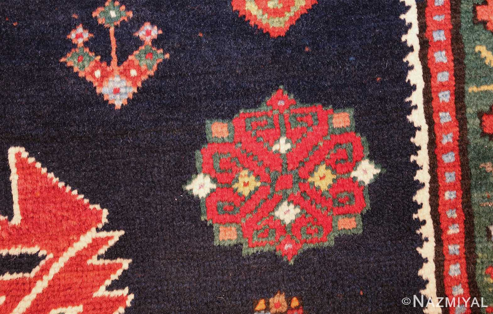 navy blue antique tribal caucasian kazak rug 49507 red Nazmiyal