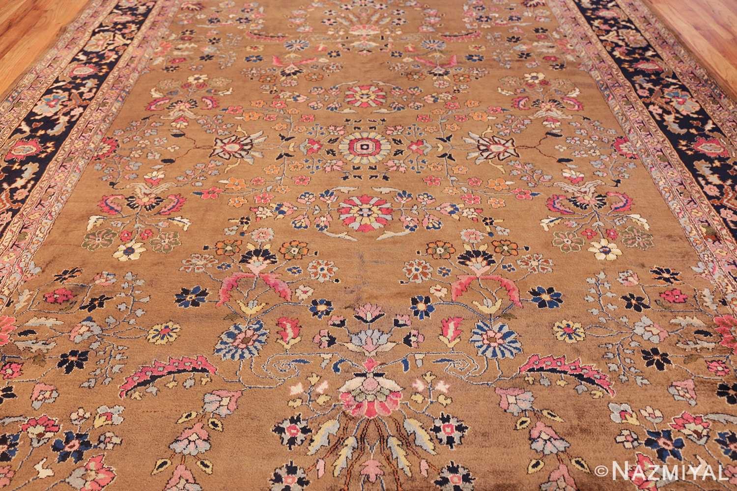 room size antique indian rug 49514 field Nazmiyal