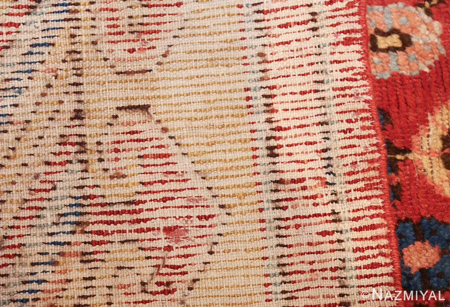 small antique red background khotan rug 49033 weave Nazmiyal