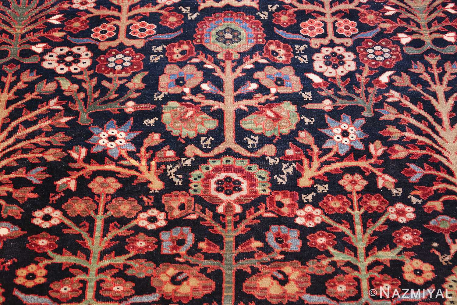 tree of life antique malayer persian rug 49527 flowers by nazmiyal