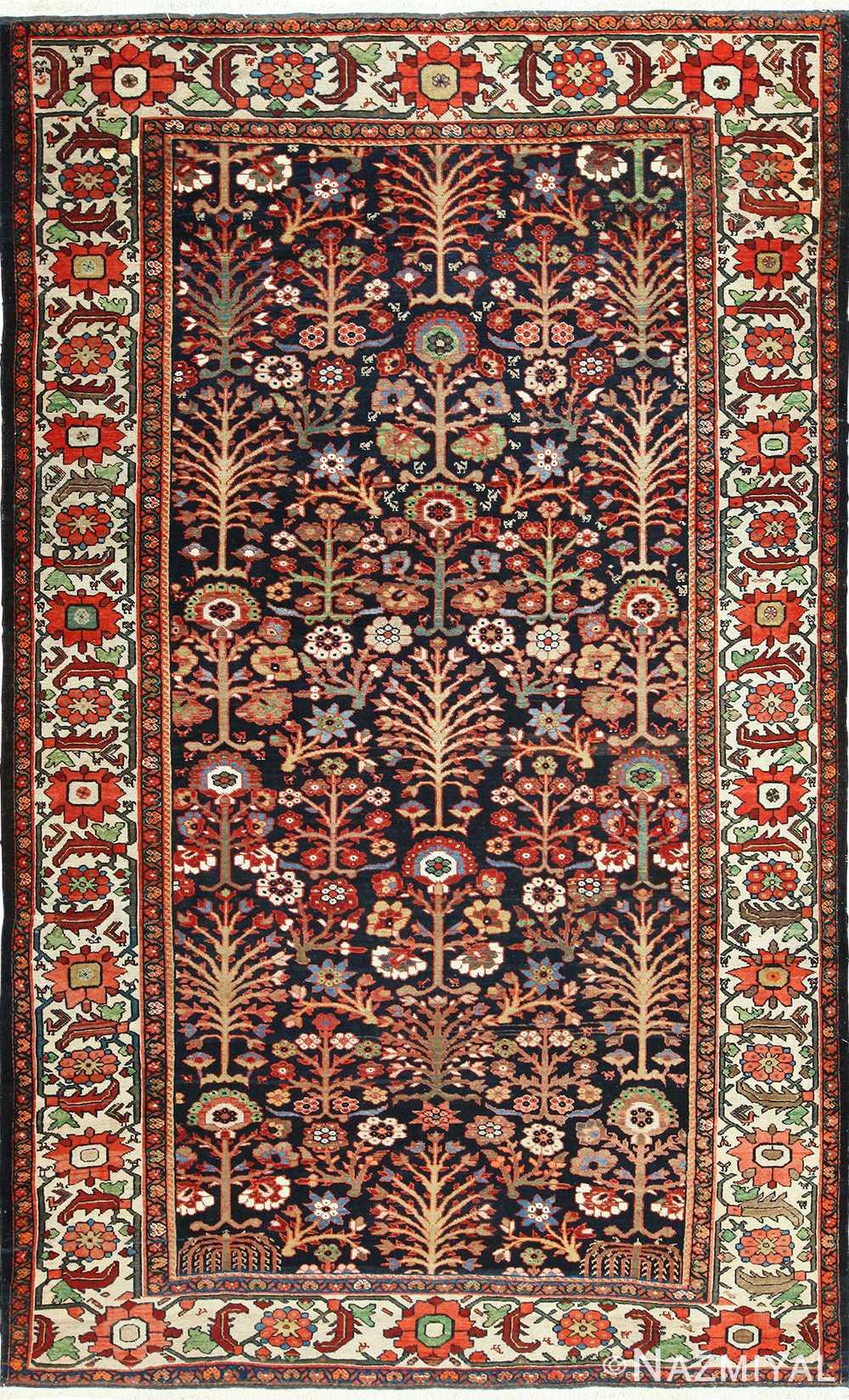 Tree Of Life Antique Malayer Persian Rug 49527 Nazmiyal