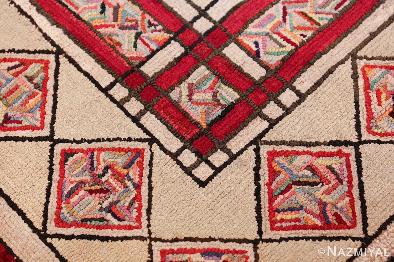 vintage art deco american hooked rug 49525 angle Nazmiyal