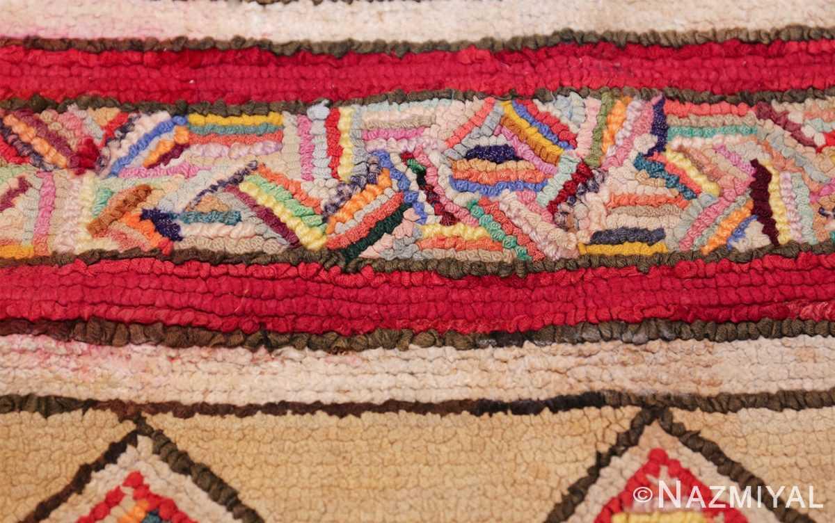 vintage art deco american hooked rug 49525 colorful Nazmiyal