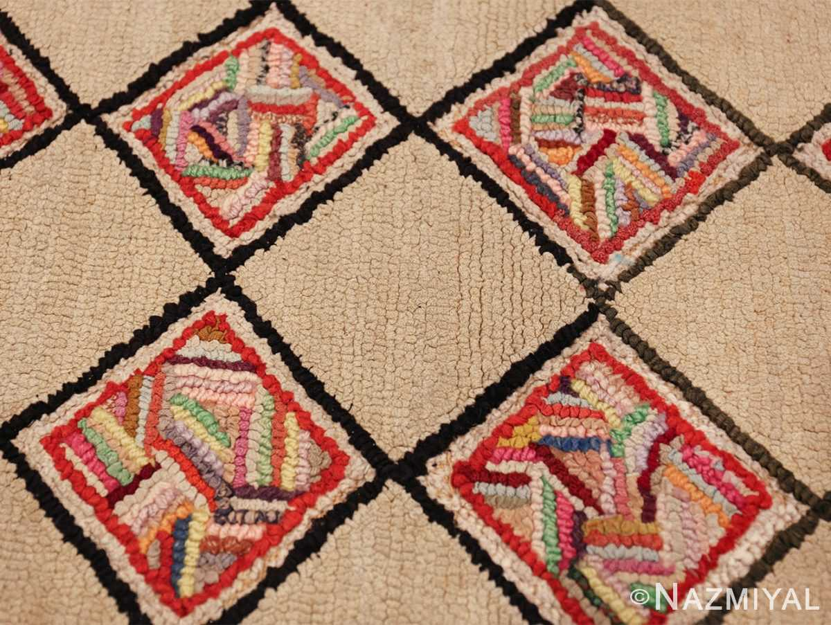 vintage art deco american hooked rug 49525 quadro Nazmiyal