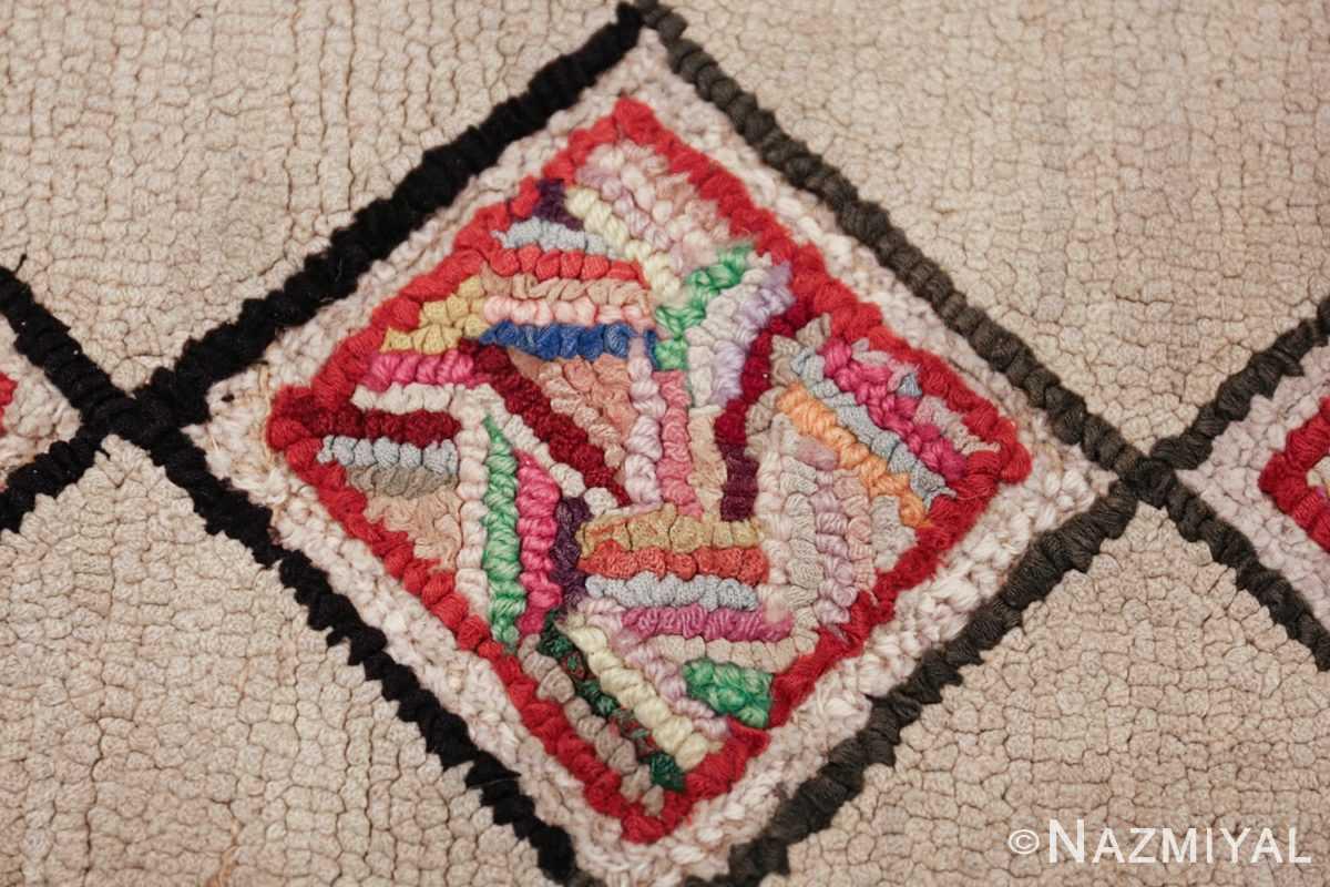 vintage art deco american hooked rug 49525 single Nazmiyal