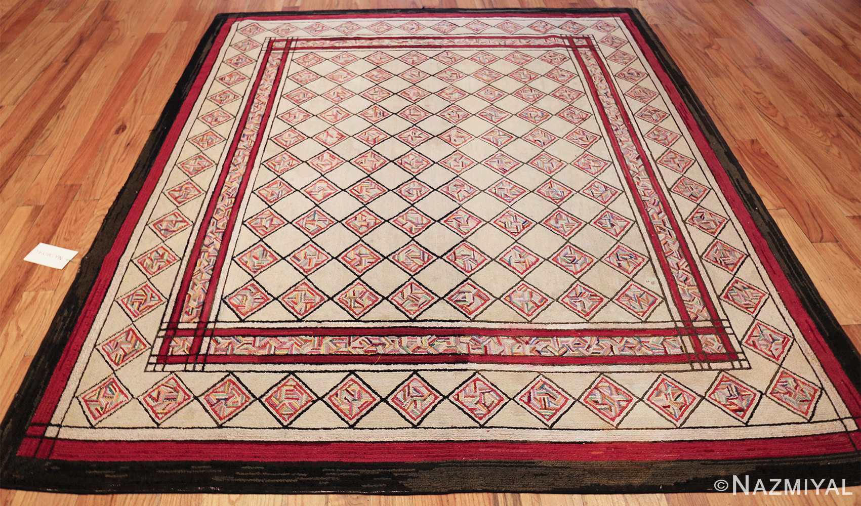 vintage art deco american hooked rug 49525 whole Nazmiyal