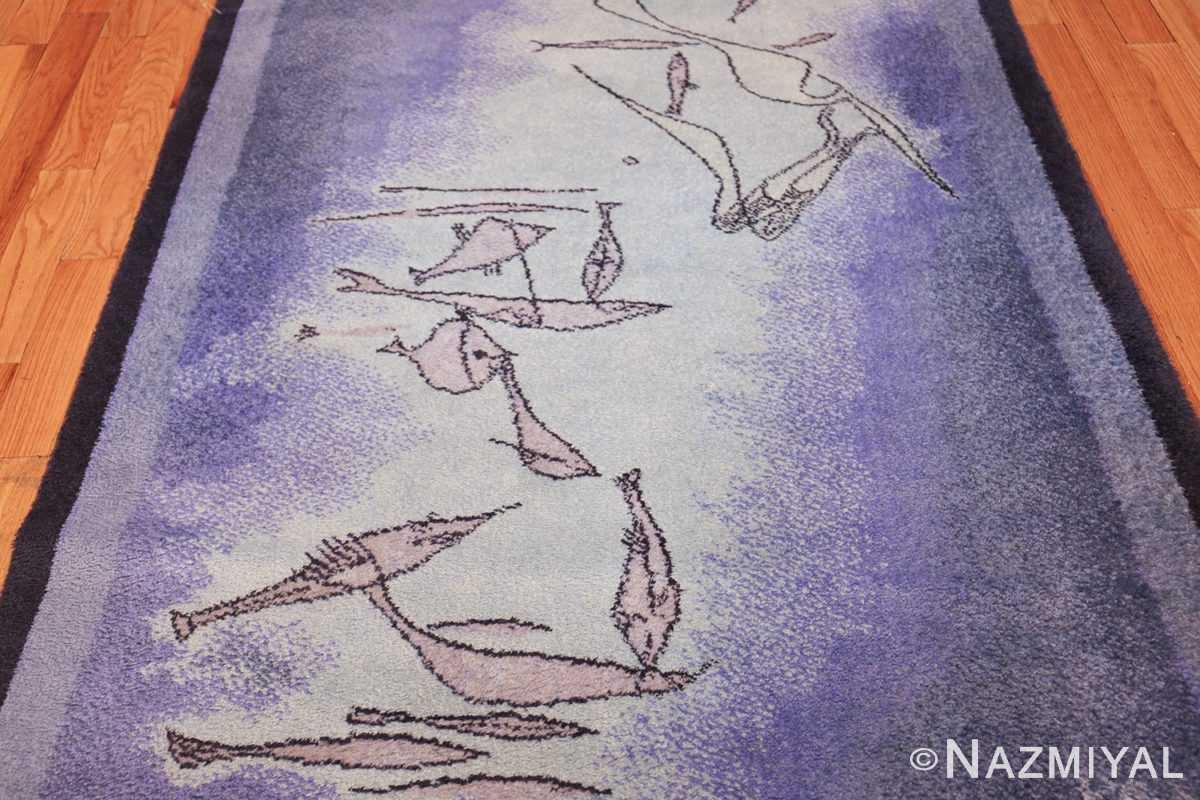vintage paul klee inspired scandinavian fish rug by ege 49503 field Nazmiyal