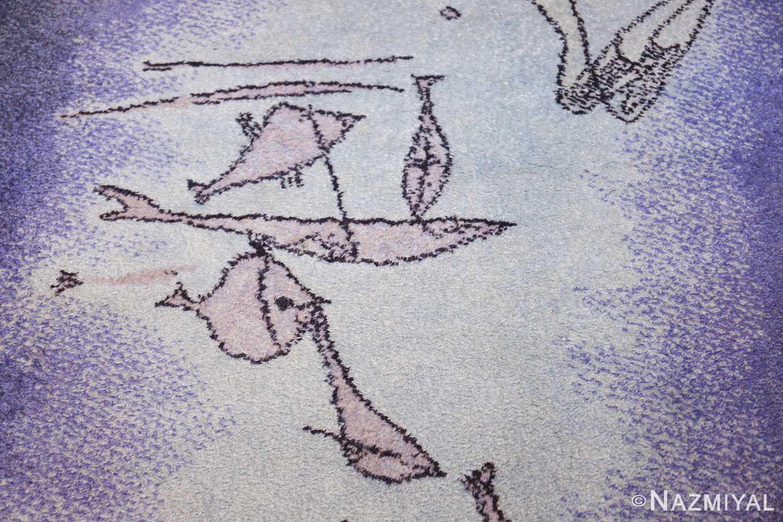 vintage paul klee inspired scandinavian fish rug by ege 49503 fish Nazmiyal