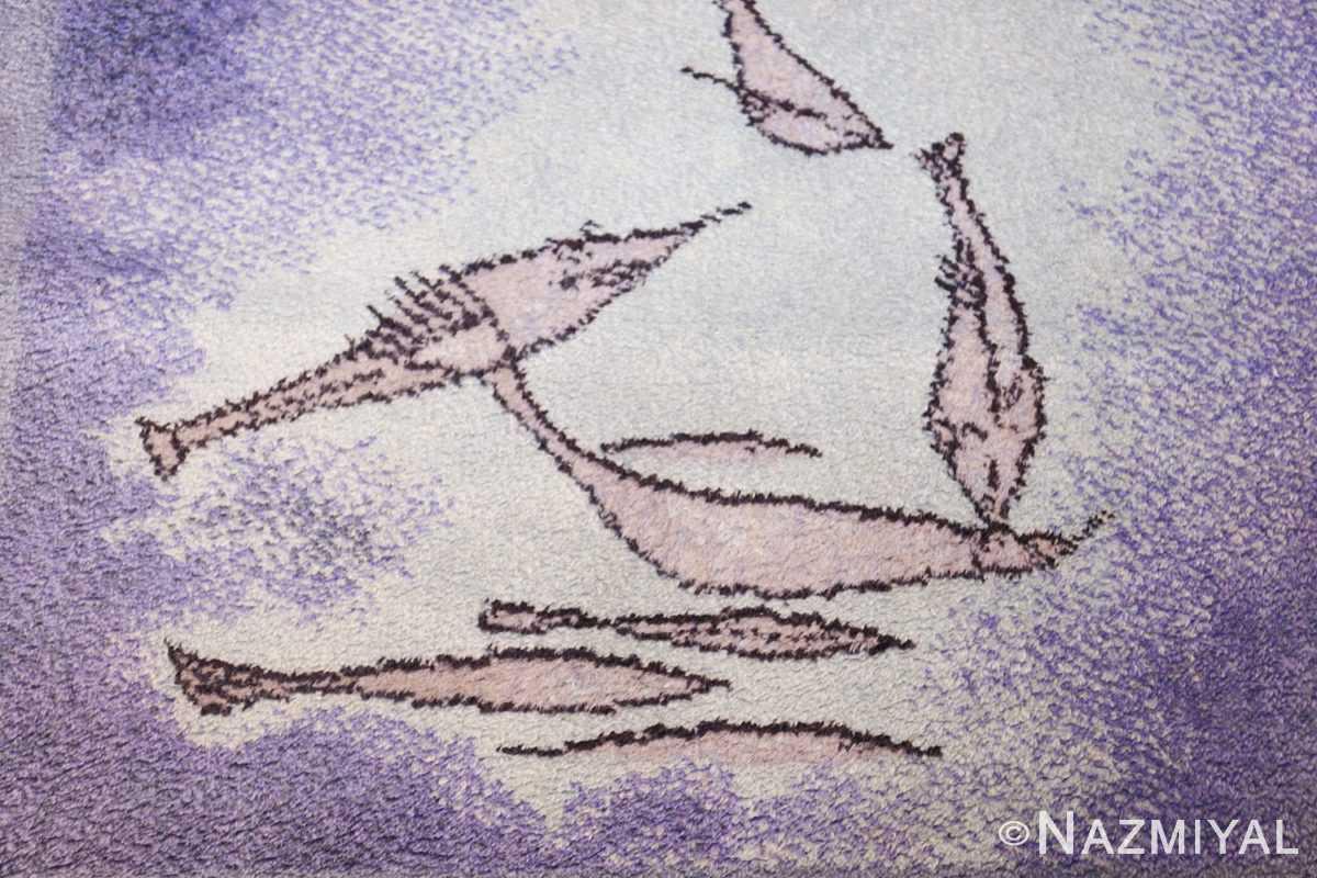 vintage paul klee inspired scandinavian fish rug by ege 49503 sharks Nazmiyal