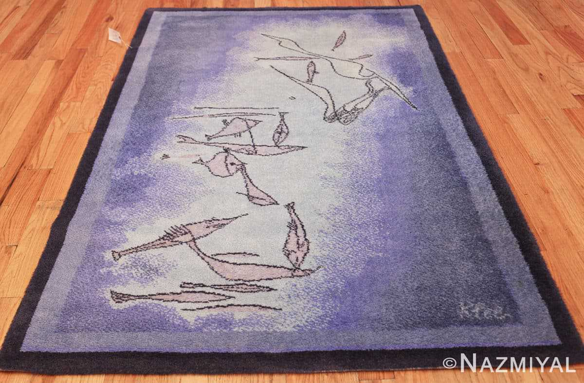 vintage paul klee inspired scandinavian fish rug by ege 49503 whole Nazmiyal