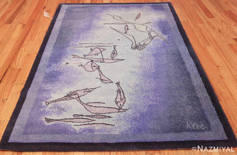 vintage paul klee inspired scandinavian fish rug by ege 49503 whole Nazmiyal