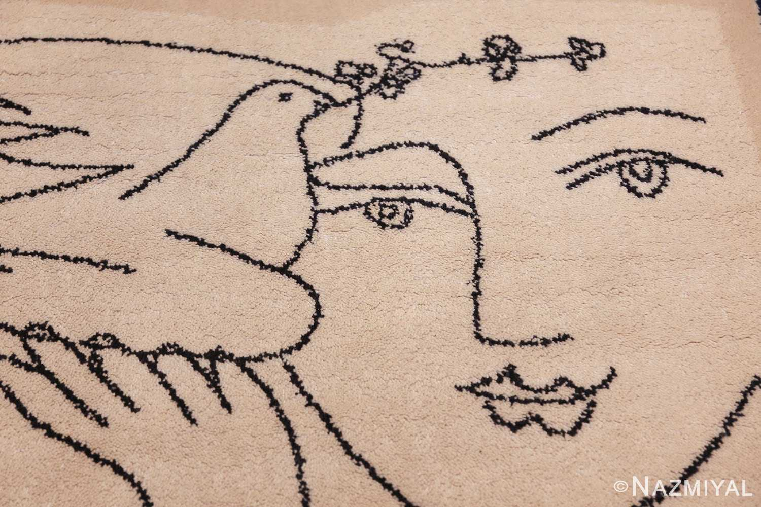 vintage peace and joy rug by picasso 49496 face Nazmiyal