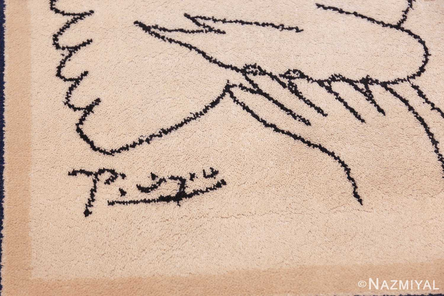 vintage peace and joy rug by picasso 49496 signature Nazmiyal