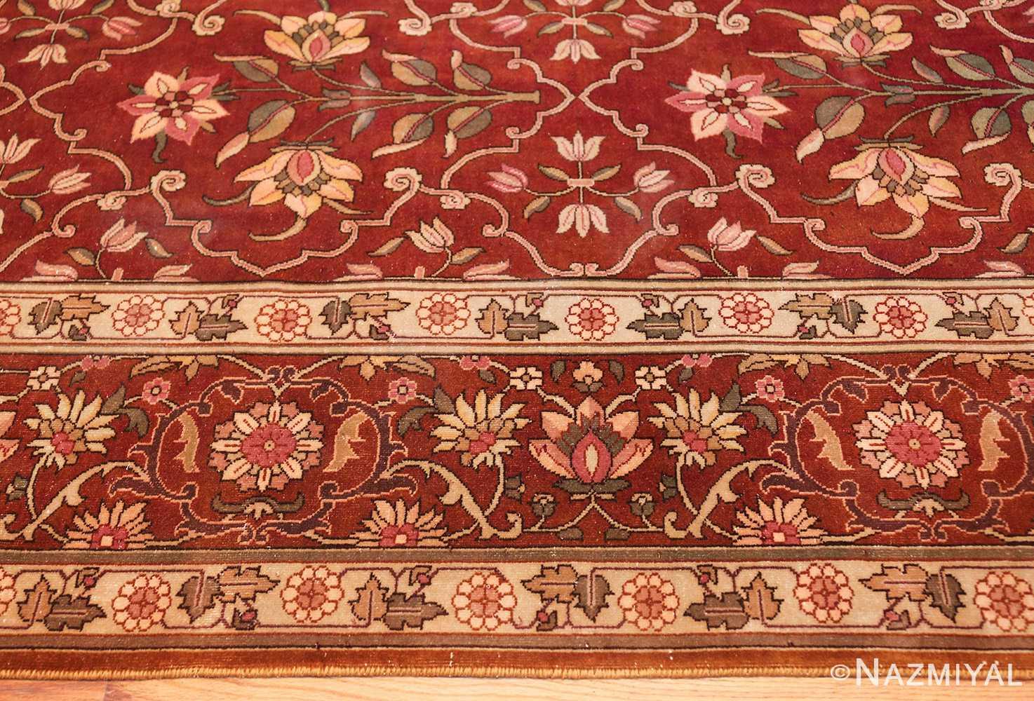 vintage room size indian rug 49477 border Nazmiyal