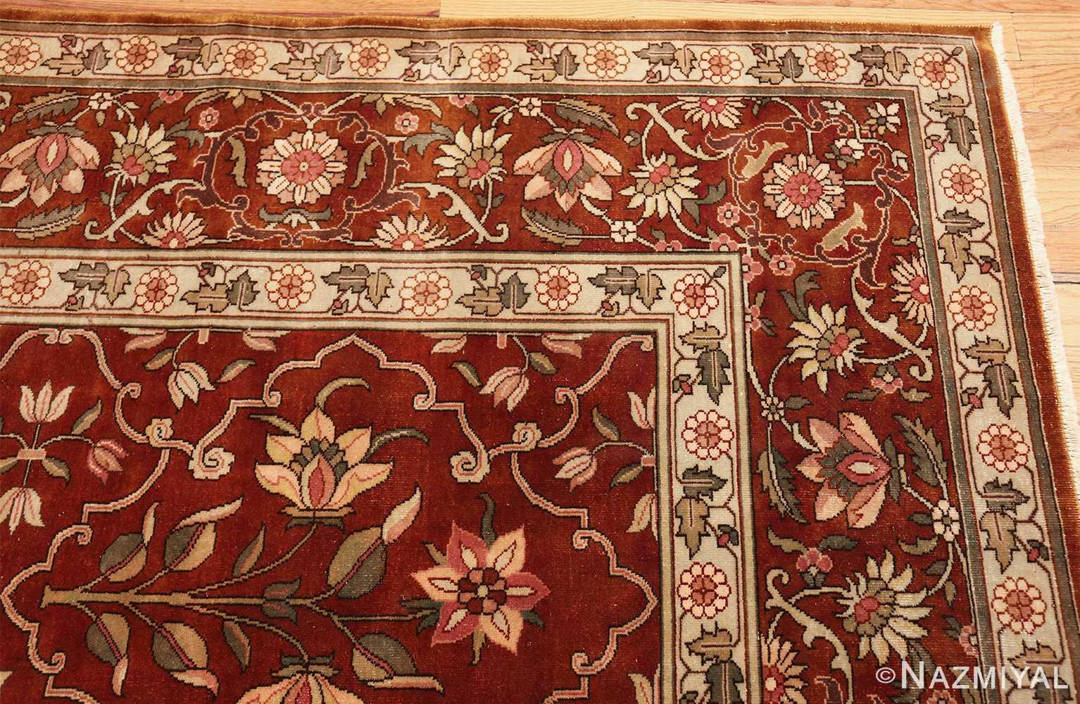 vintage room size indian rug 49477 corner Nazmiyal