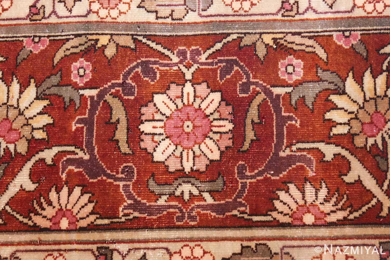 vintage room size indian rug 49477 flower Nazmiyal