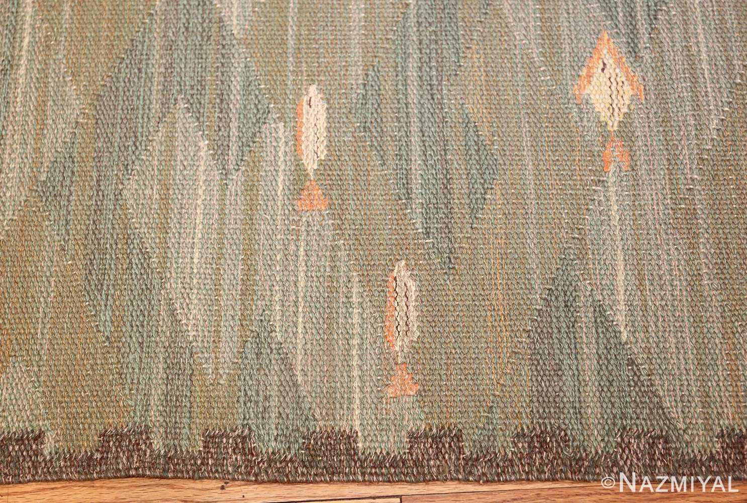 vintage scandinavian rug possibly by elsa gullberg 49504 border Nazmiyal
