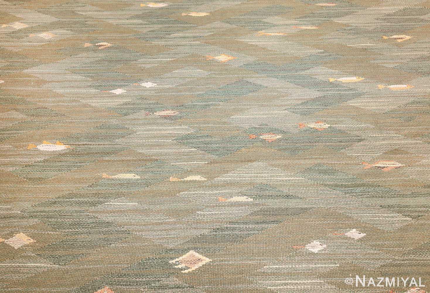 vintage scandinavian rug possibly by elsa gullberg 49504 field Nazmiyal