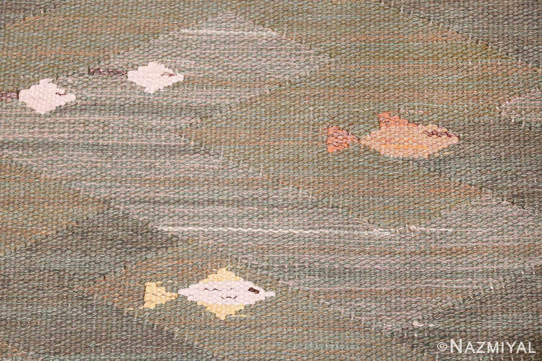 vintage scandinavian rug possibly by elsa gullberg 49504 fish Nazmiyal