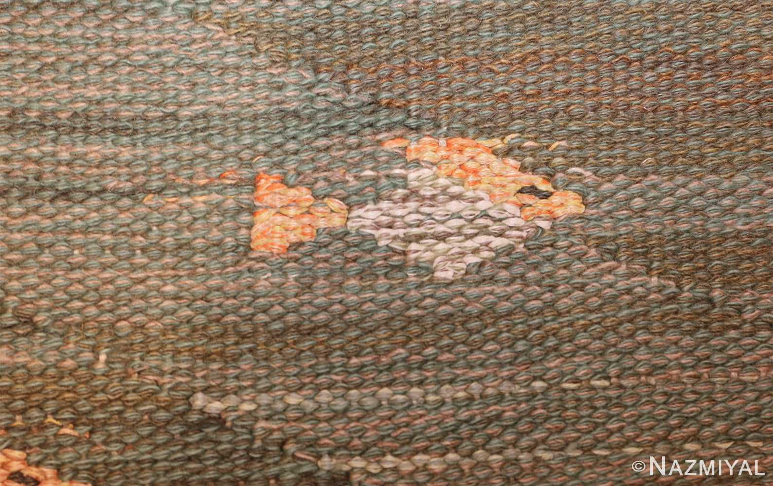 vintage scandinavian rug possibly by elsa gullberg 49504 orange Nazmiyal
