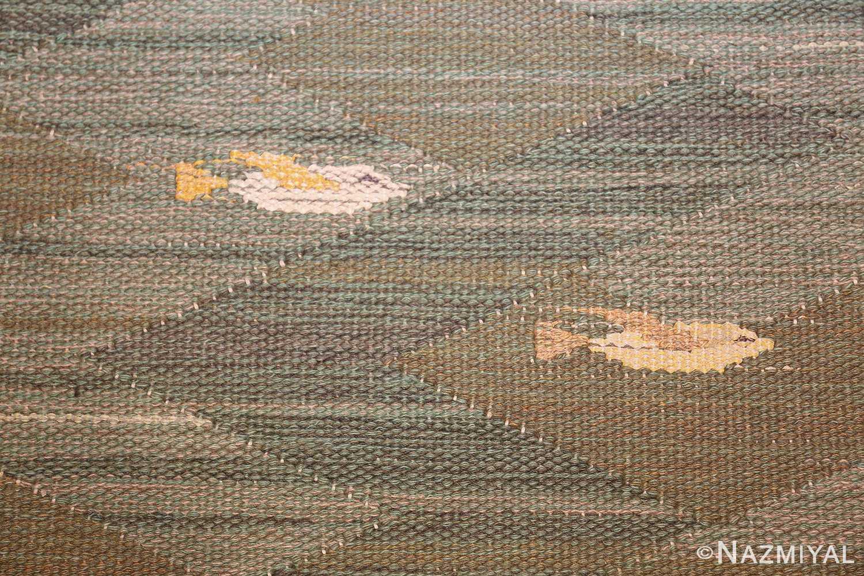 vintage scandinavian rug possibly by elsa gullberg 49504 two Nazmiyal