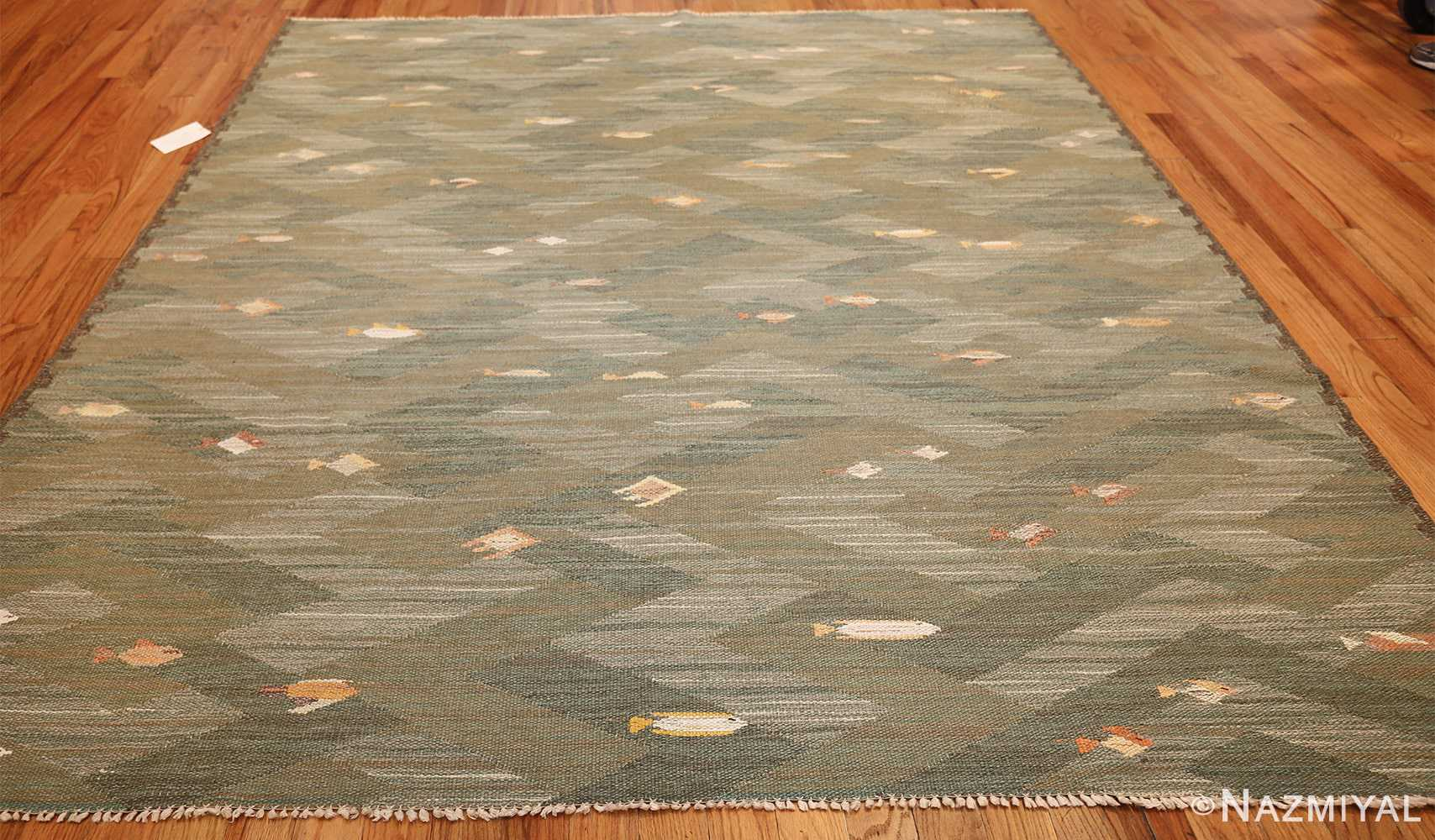 vintage scandinavian rug possibly by elsa gullberg 49504 whole Nazmiyal