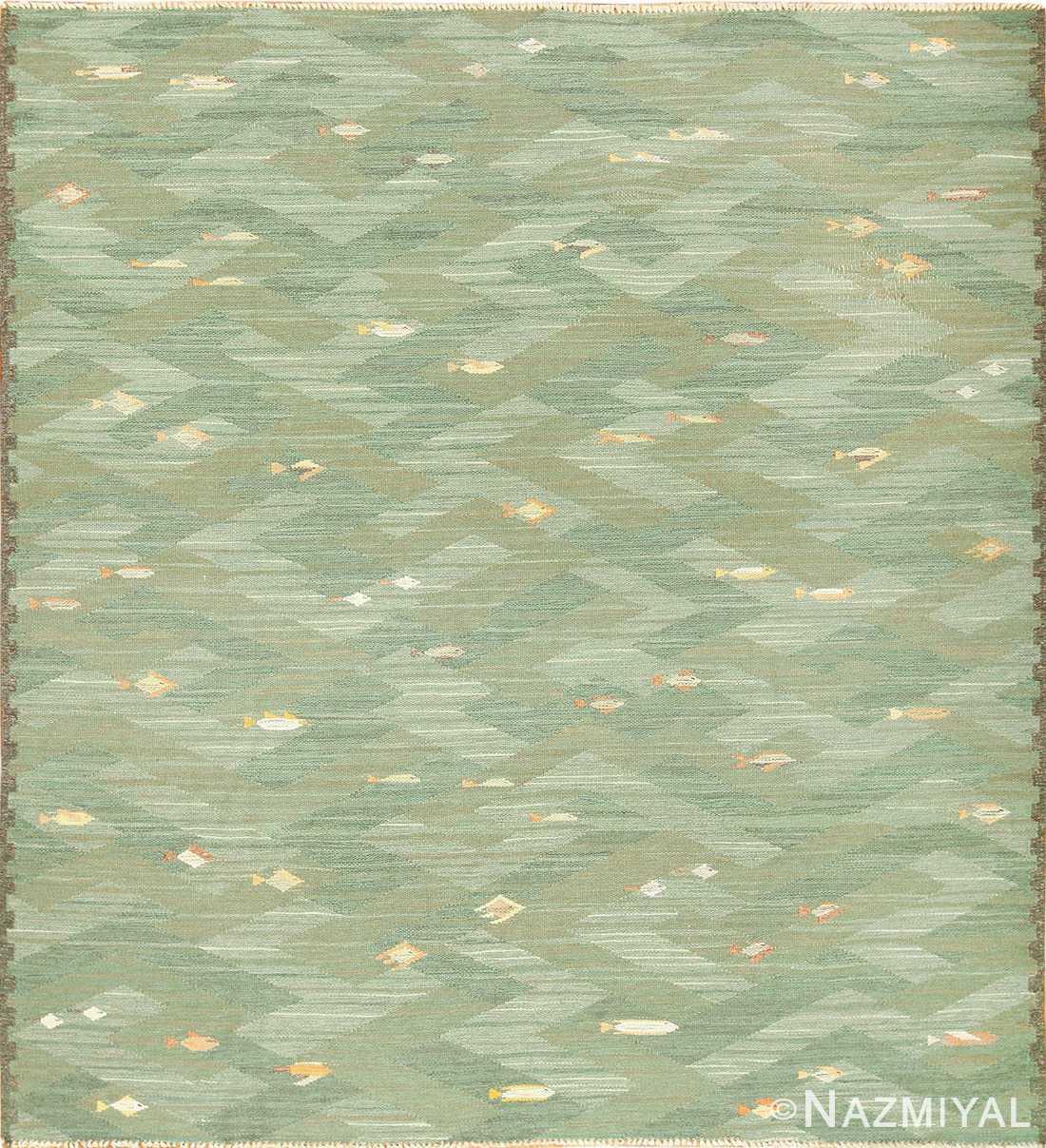 vintage scandinavian rug possibly by elsa gullberg 49504 Nazmiyal