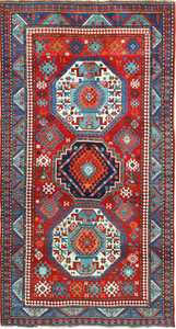 Antique Caucasian Kazak Rug 49509 Nazmiyal