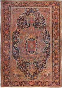 Antique Persian Sarouk Farahan Rug 49473 Nazmiyal