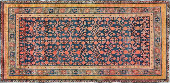 Antique Pomegranate Design Khotan Rug By Nazmiyal