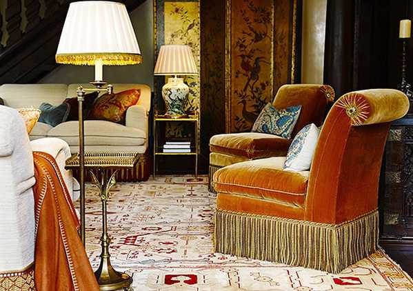 Decorating With Antique Oriental Carpets by Nazmiyal