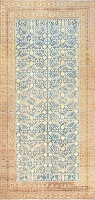 Light Blue Antique Pomegranate Design Khotan Rug by Nazmiyal