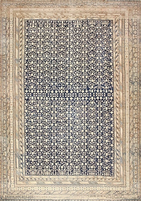 Oversized Antique East Turkestan Khotan Rug With A Pomegranate Pattern by Nazmiyal