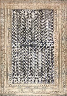 Oversized Antique East Turkestan Khotan Rug With A Pomegranate Pattern by Nazmiyal
