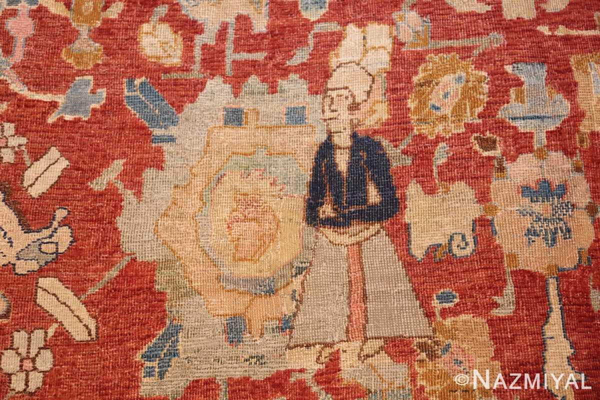 17th century hunting scene oversize isfahan persian rug 3025 disciple Nazmiyal