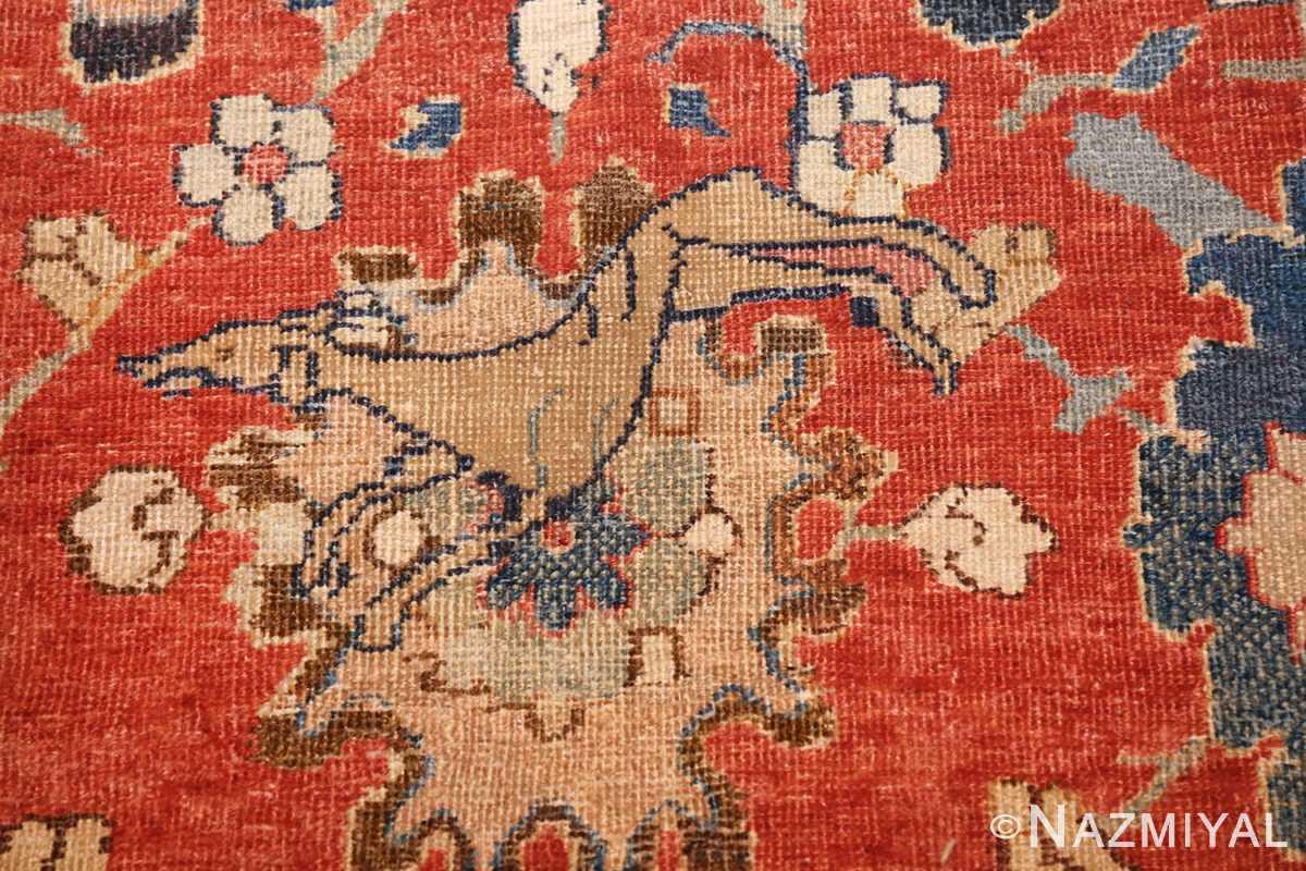 17th century hunting scene oversize isfahan persian rug 3025 dogs Nazmiyal