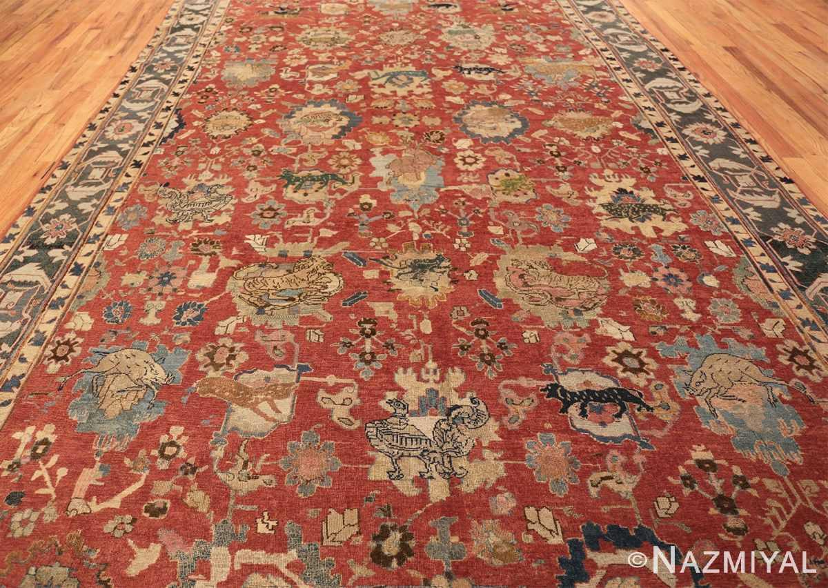 17th century hunting scene oversize isfahan persian rug 3025 whole Nazmiyal