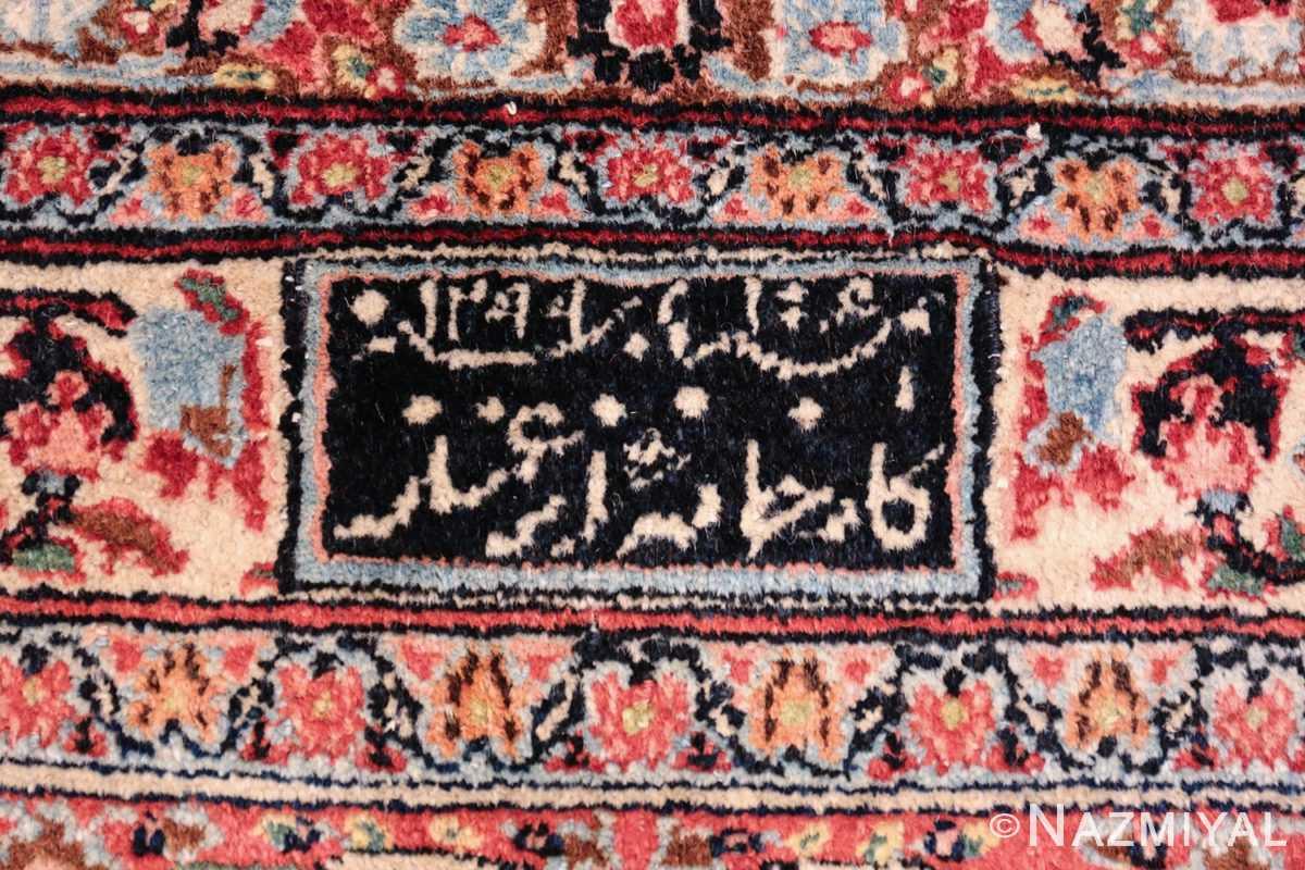 antique large khorassan persian rug 49517 signature Nazmiyal